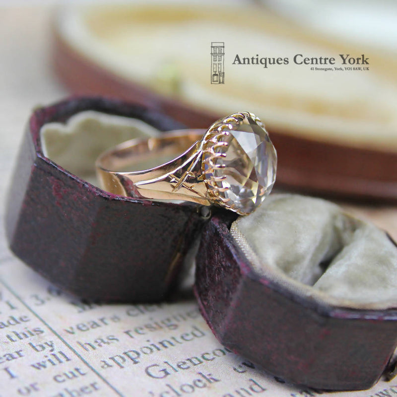 1950's 9ct Smoky Quartz Single Stone Ring