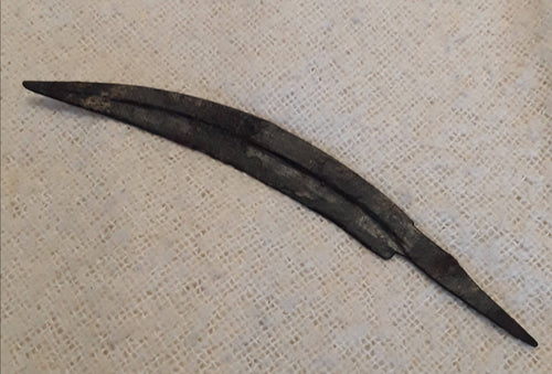 A Celtic Iron Curved Dagger Blade.