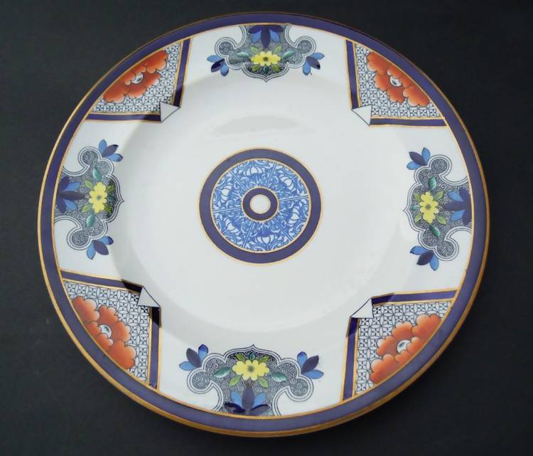 Antique Royal Worcester plate, 1878