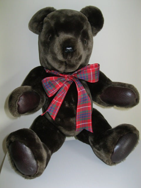 Gormar Large Dark Brown Teddy Bear Jointed