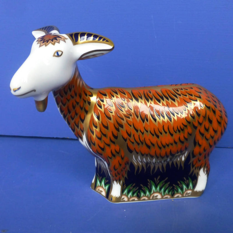 Royal Crown Derby Paperweight Nanny Goat