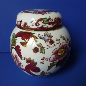 Masons Ironstone Red Mandalay Ginger Jar