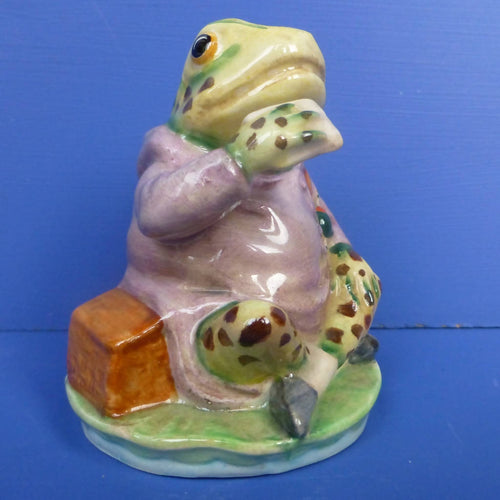 Beswick Beatrix Potter Figurine - Mr Jeremy Fisher (First Version - Spotted Legs) - BP3A