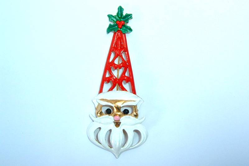 Butler & Wilson Brooch- Father Christmas