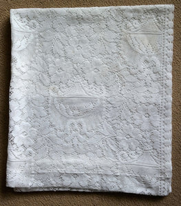 Portia - Victorian Style Cream Cotton Lace Curtain Panel readymade 96 x 200 cms