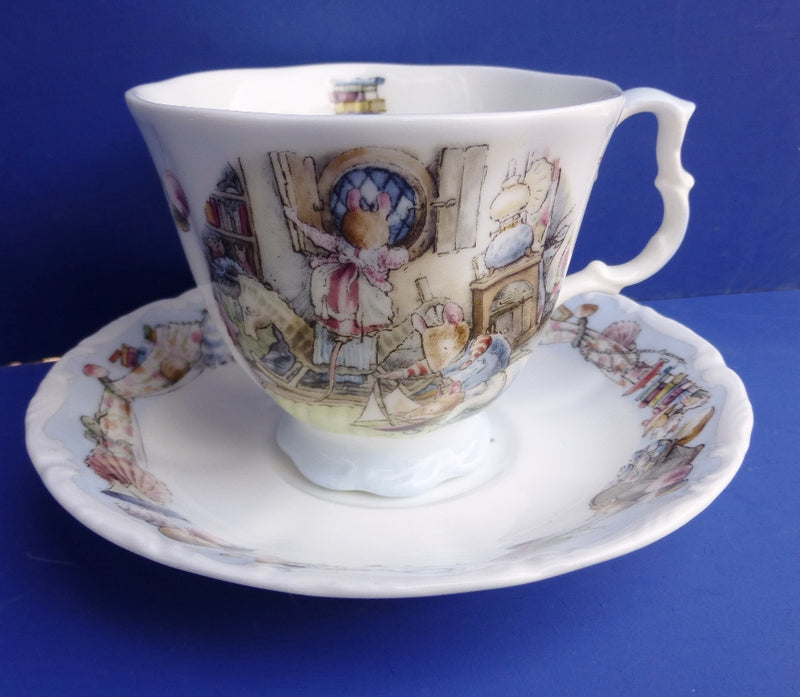 Royal Doulton Brambly Hedge Sea Story Teacup and Saucer - Rigging The Boat