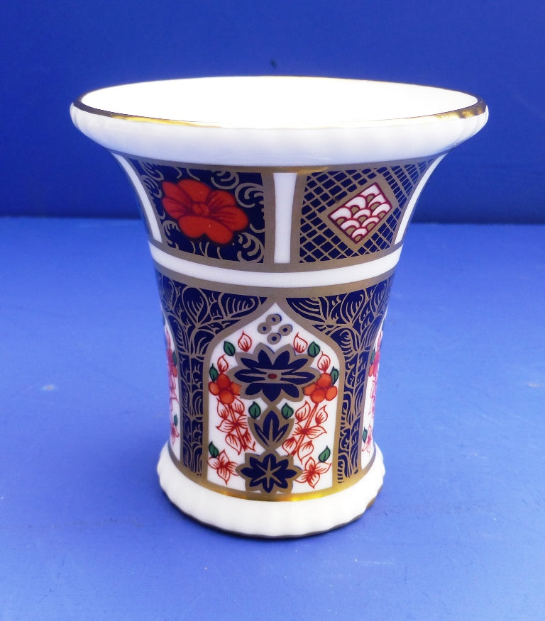 Royal Crown Derby Old Imari Trumpet Vase