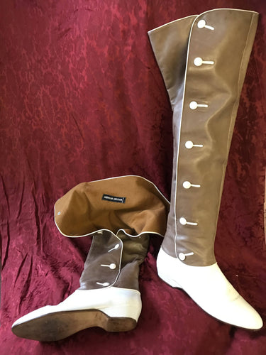 Andreas Pfister camel over knee c1970 vintage calf leather boots 4.5