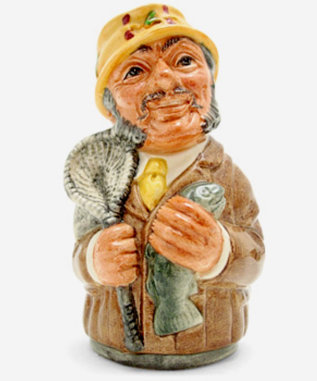 Royal Doulton Doultonville Toby Jug - Fred Fly The Fisherman D6742