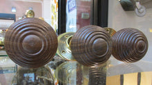 Brass & Wood Pair Door Knobs