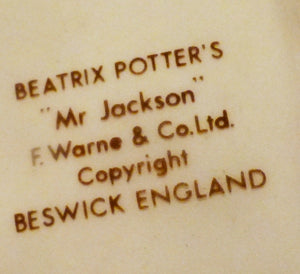 Beswick Beatrix Potter Figurine - Mr Jackson - Green - First Variation BP3A