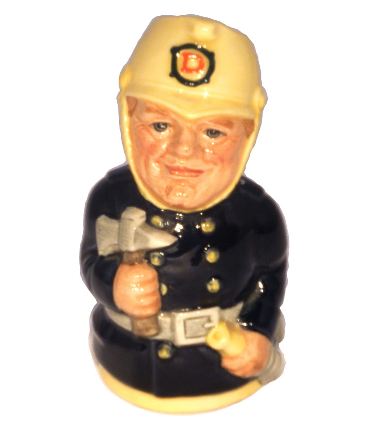 Royal Doulton Doultonville Toby Jug - Fred Fearless The Fireman D6809