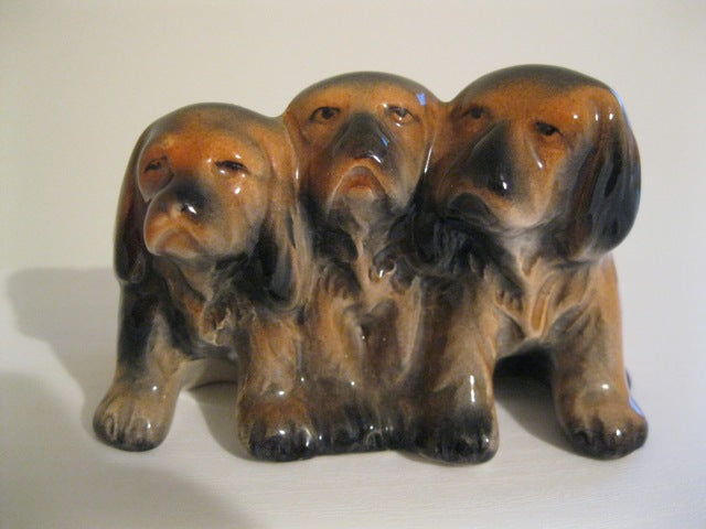 Beswick Three Puppies Dogs