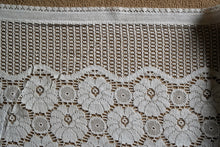 Samara -A Vintage Style white Cotton Lace Curtain Valance Panel 3.5m