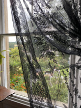 "Rowana toile black pure Cotton Lace Curtain Panelling to finish 66""/120"""