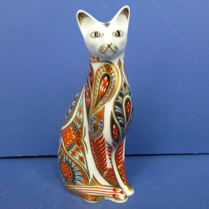 Royal Crown Derby Paperweight Siamese Cat (Boxed)