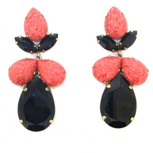 Coral Black Earrings Frangos