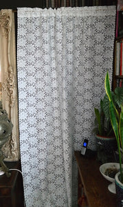 Serena - Victorian Style white Cotton Lace Curtain Panel readymade- 120 x 240cms