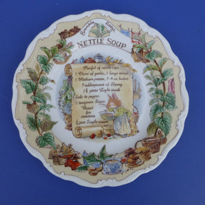 Royal Doulton Brambly Hedge Recipe Plate - Nettle Soup