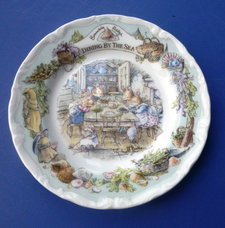 Doulton Brambly Hedge Sea Story Tea Plate - Dining By The Sea (Boxed)
