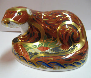 Royal Crown Derby Paperweight- Otter