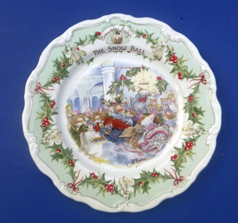Royal Doulton Brambly Hedge Plate - The Snow Ball