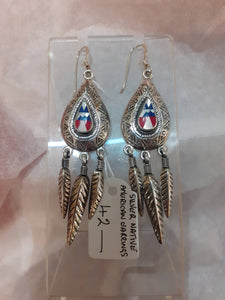 925 Silver Native American Earrings