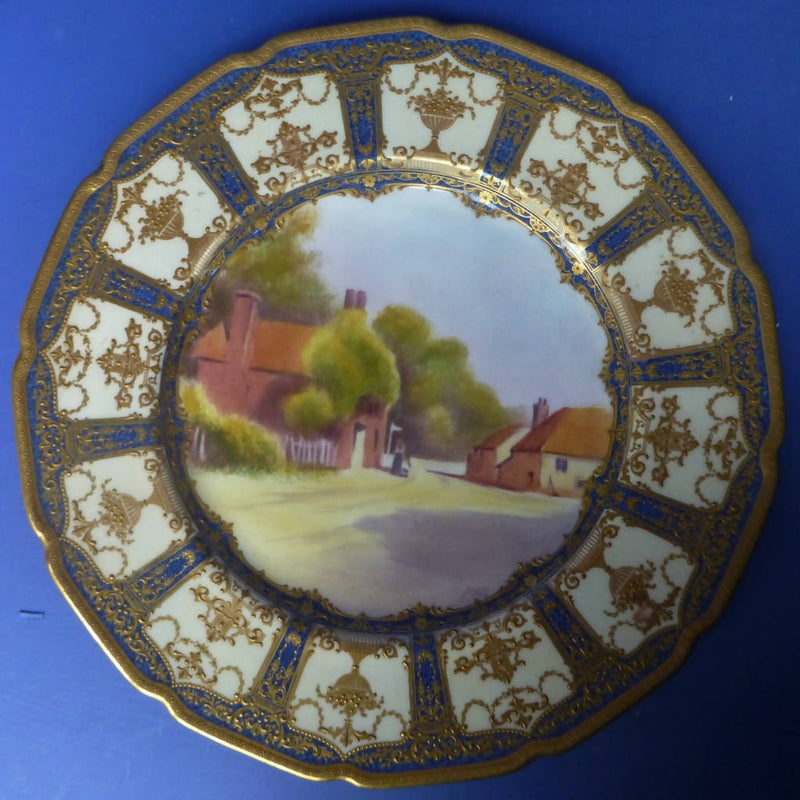 Royal Doulton Cabinet Plate Signed by Mary A Barrett C1901