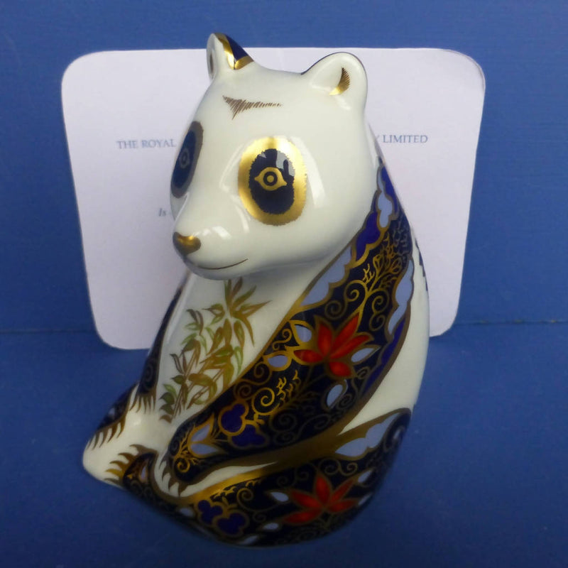 Royal Crown Derby Limited Edition Endangered Species Paperweight - Imperial Panda (Boxed)