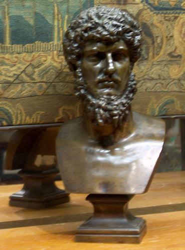 Antqiue 19th Century Bronze Sculpture Bust of Lucius Verus