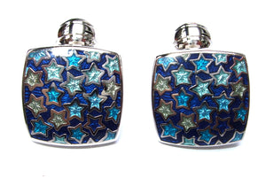 Duchamp Blue Stars Enamel Cufflinks