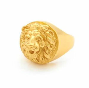 Bill Skinner Lion Ring Gold