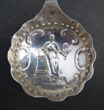 Antique Dutch silver caddy spoon, imported 1892