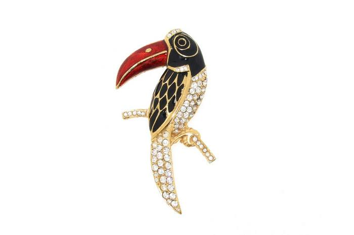 Toucan Brooch Pin Enamel