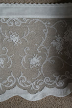 "Duchesse Country Cottage Cotton Valance Lace Panelling in Cream 12""- sold per metre wide 1m"
