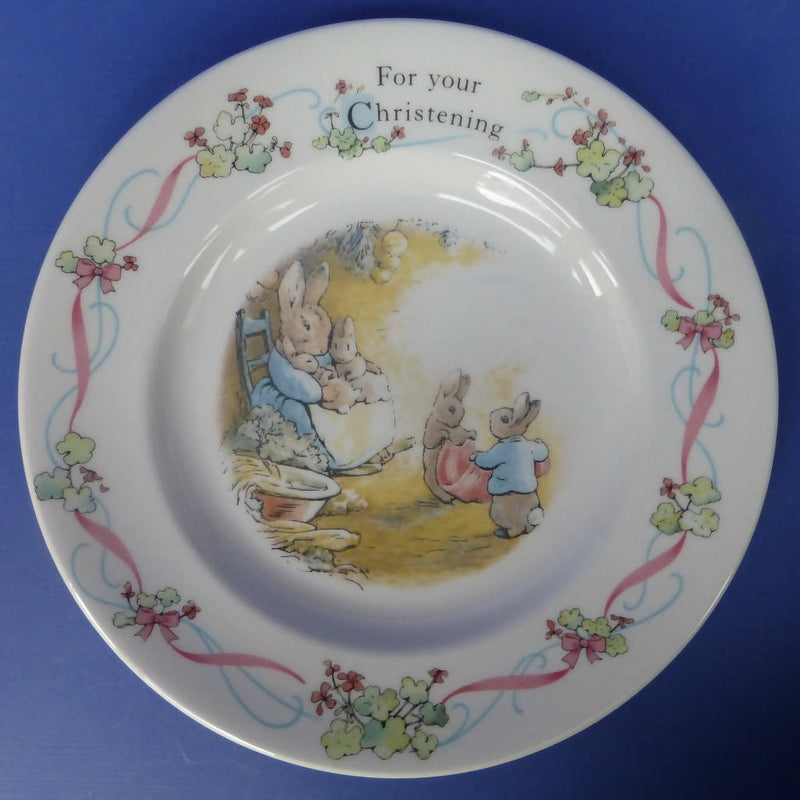 Wedgwood Beatrix Potter Peter Rabbit Christening Plate