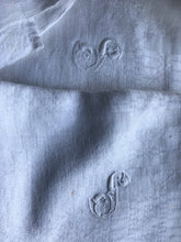 4 Beautiful Antique french Linen embroidered monogrammed napkins S