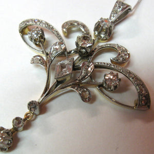 Antique Edwardian Old Cut Diamond Pendant