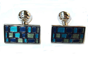 Duchamp Blue Mosaic Cufflinks