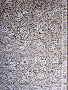 "Edwina - c1910 period Style white Cotton Lace Curtain Panel 58"" x 84""ready to hang"