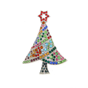 Christmas Tree Brooch with star
