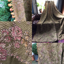 "Antique French Chateau Brocade curtain panel 100""/108"""