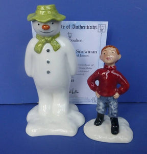 Royal Doulton Limited Edition Snowman Figurine - Snowman and James (James Builds a Snowman)