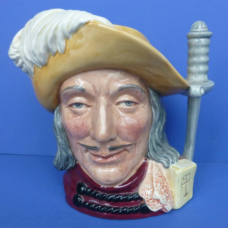 Royal Doulton Limited Large Character Jugs The Three Musketeers Aramis, Porthos and Athos D6829, D6828 and D6827