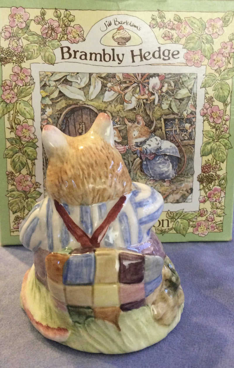 Royal Doulton Brambly Hedge Mr Toadflax DBH10c With cushion Style One Boxed
