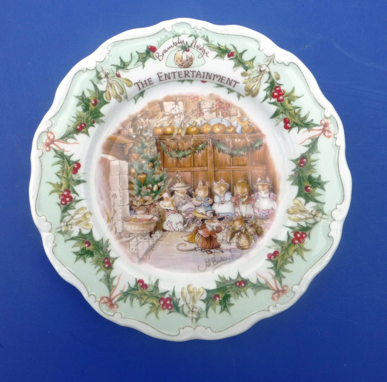 Royal Doulton Brambly Hedge Plate - Entertainment from the series by Jill Barklem
