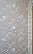 "Ashley- Antique Style laura Ashley trellis rose white Cotton Lace Curtain Panel to finish 58""/73"""