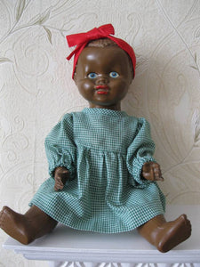 "1940's Mullato 14"" Composition Doll"