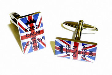 Keep Calm and Carry On Union Jack Cufflinks