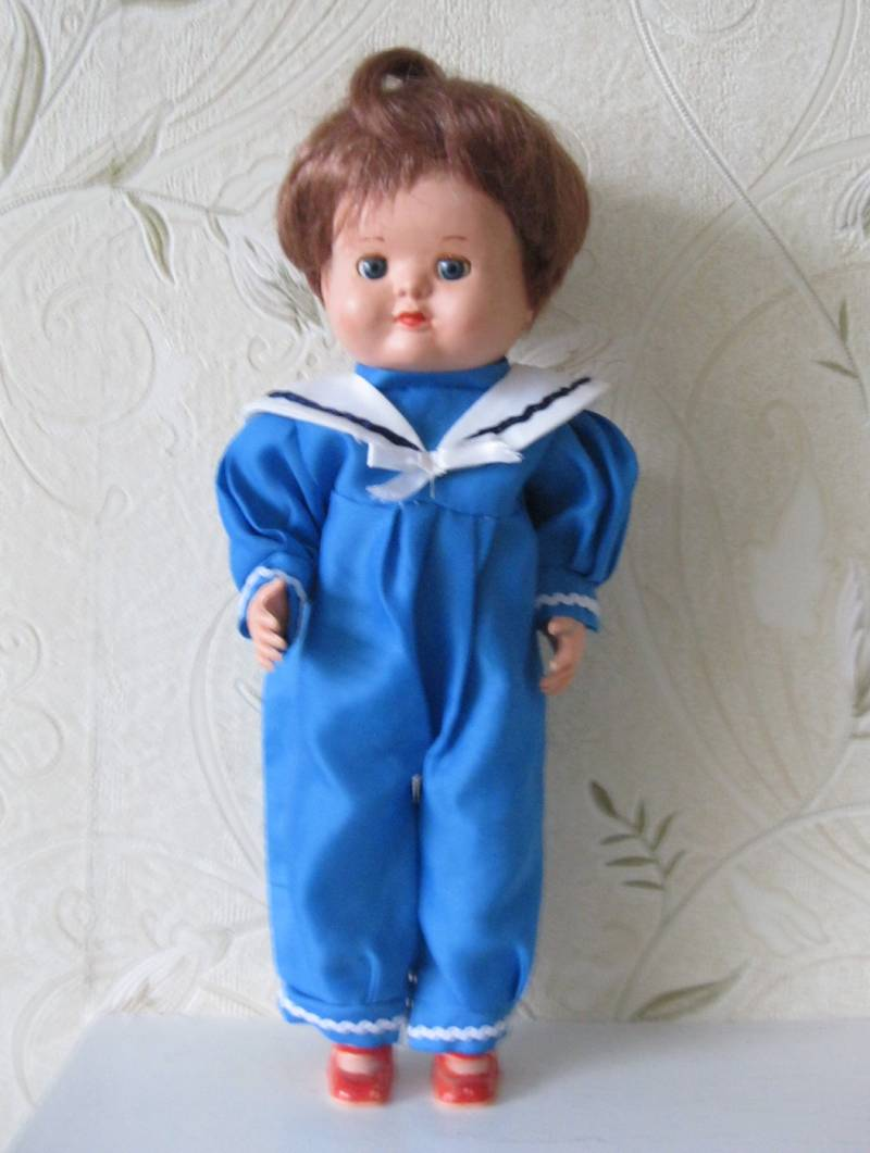 Vintage William and Steer Hard Plastic Walking Doll